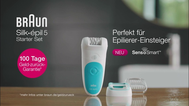 Braun - Silke épil 5 Starter Set mit SensoSmart Video 7