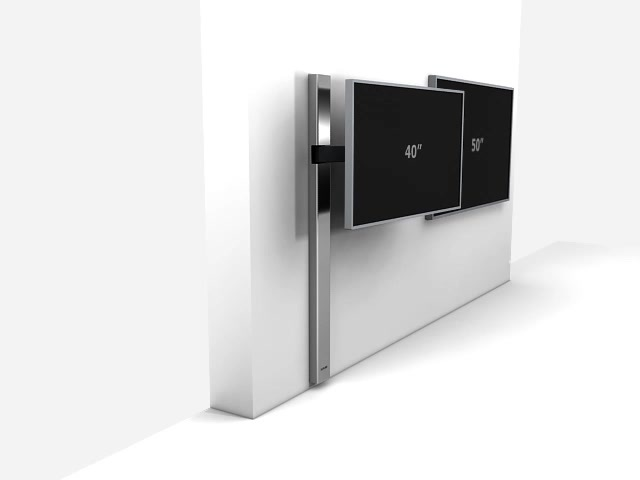 128-Edelstahl-HR-TV-Design-Halterung-schwenkbar Video 3