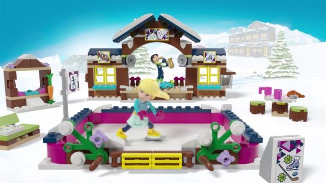 LEGO Friends - Eislaufplatz im Wintersportort 41322 Video 3