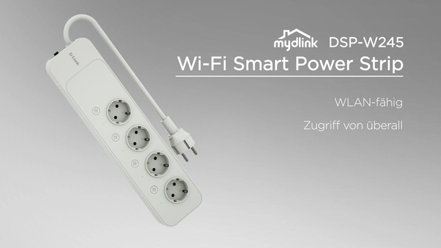 D-Link - mydlink DSP-W245 Wi-Fi Smart Power Strip Video 3