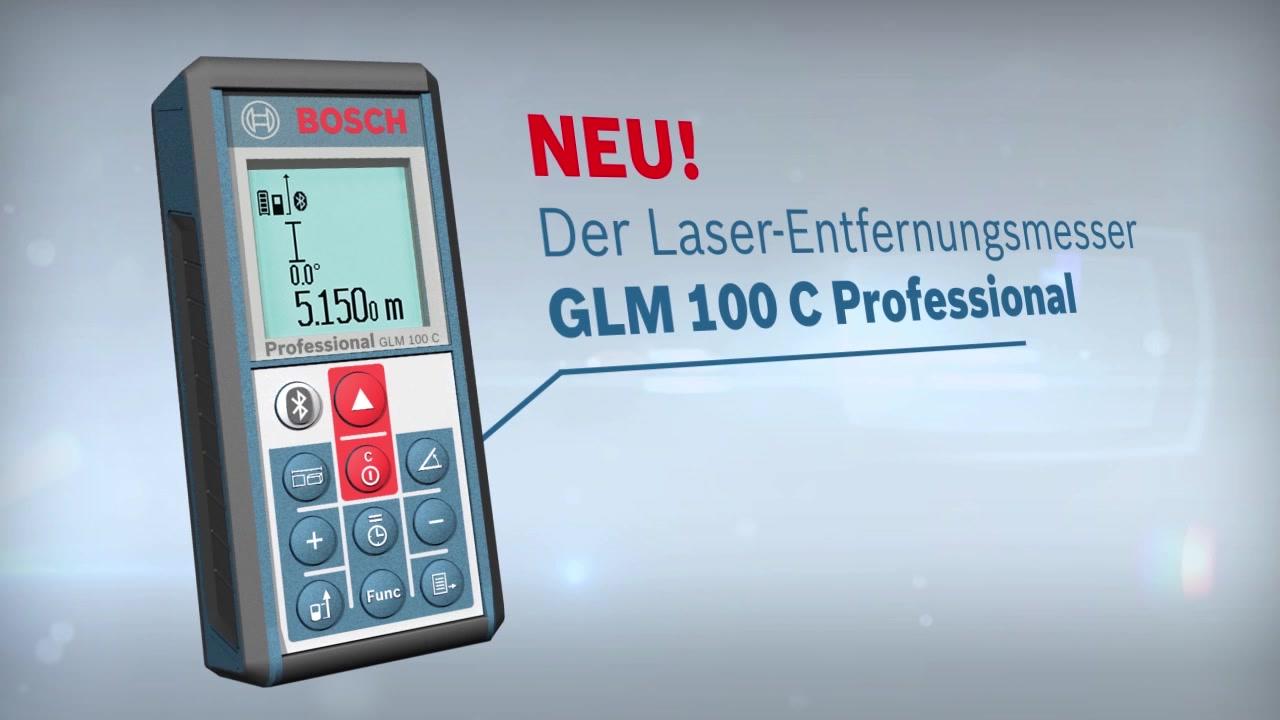 Bosch Entfernungsmesser Bedienungsanleitung : Glm 100 c laser entfernungsmesser bosch professional