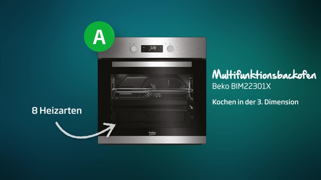 Beko - BIM22301X Multifunktionsbackofen Video 3