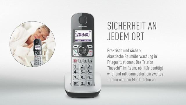 Panasonic - Senioren-IP-Telefon KX-TGQ500 Video 3
