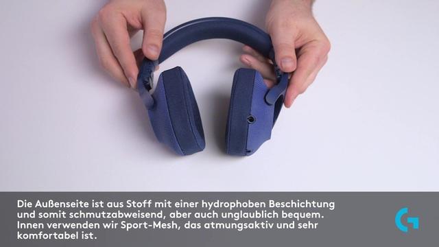 Logitech - G433 7.1 Surround Gaming-Headset Video 3